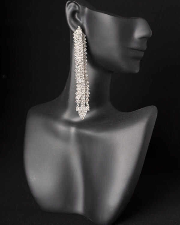 Rhinestone dangle competition earrings