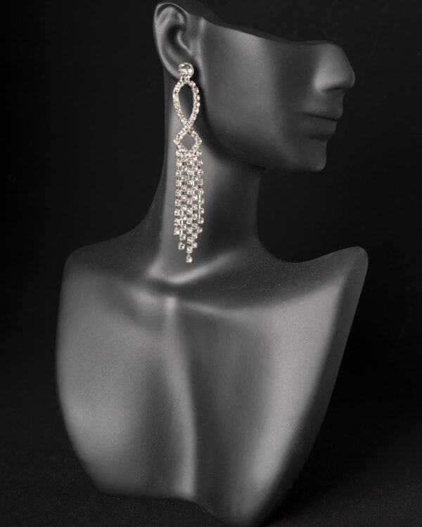 Short dangle rhinestone competition earrings