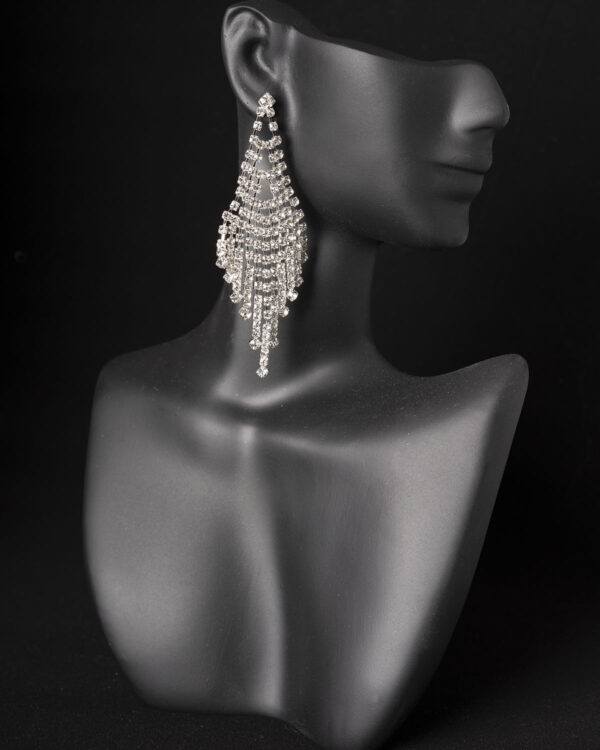 Rhinestone short competition earrings