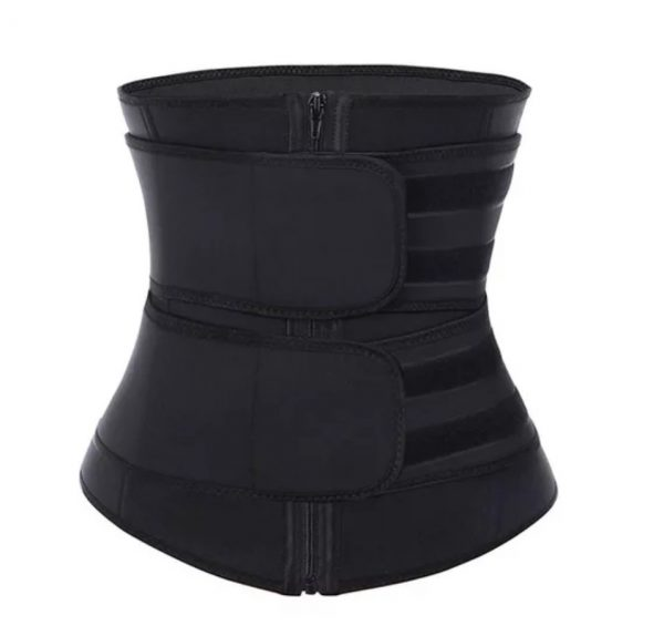 Double compression waist trainer