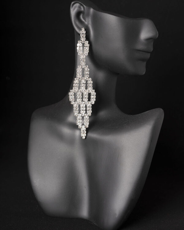 Rhinestone competition earrings