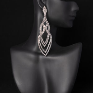 NPC IFBB rhinestone earrings