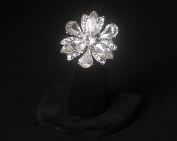 Rhinestone Flower competition ring